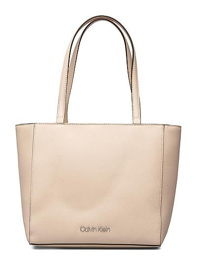 Ck Must Shopper Sm Bags Top Handle Bags Beige CALVIN KLEIN | CALVIN KLEIN SALE