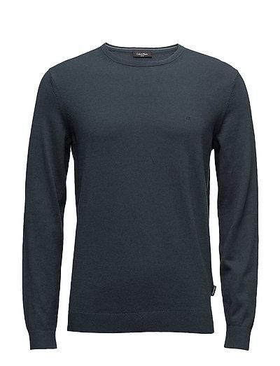 Saron Refined Ctn Wo T-Langärmliges Hemd Blau CALVIN KLEIN   CALVIN KLEIN SALE