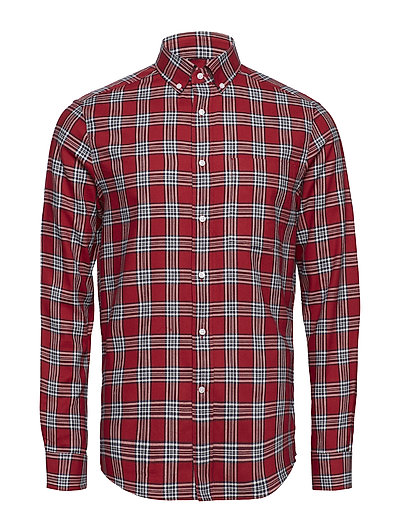 BUTTON DOWN BRUSHED - IRON RED