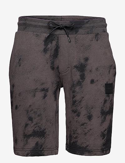 CLOUD PRINT SWEATSHORT - jeansowe szorty - ck black