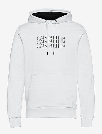 TRIPLE CENTER LOGO HOODIE - hoodies - bright white
