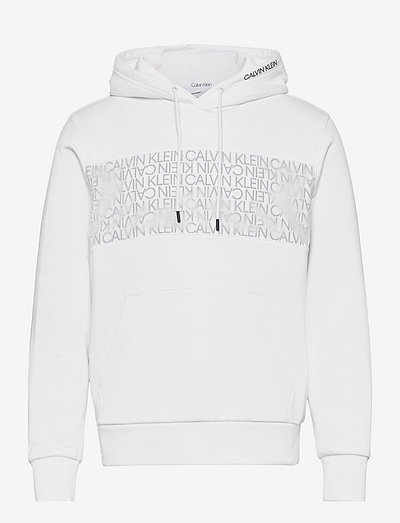 TRANSPARENT NYLON LOGO HOODIE - hoodies - bright white