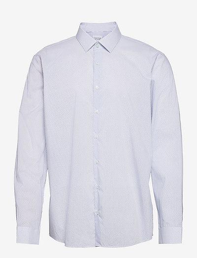 STAIN SHIELD PRINT SLIM SHIRT - linnen overhemden - light blue