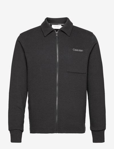 SWEATSHIRT JACKET - kläder - ck black