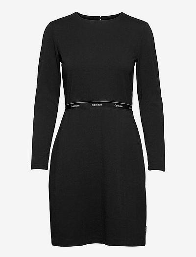 RECYCLED MILANO LS DRESS - sommerkleider - ck black