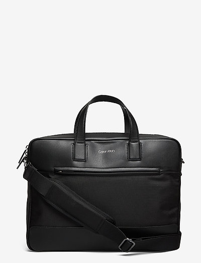 LAPTOP BAG W/PCKT - laptop-väskor - ck black