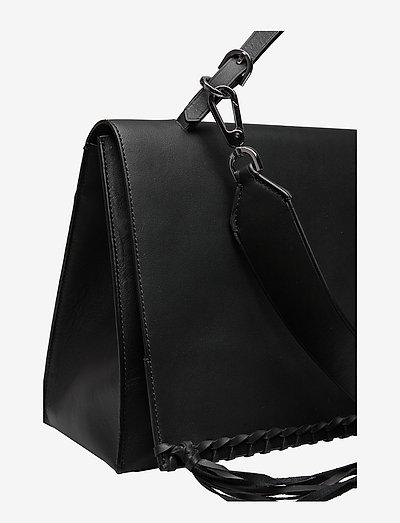 Calvin Klein Fringe Satchel- Olkalaukut Black