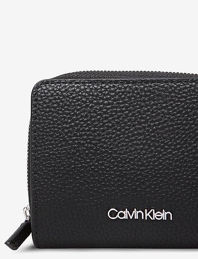 Calvin Klein Sided Ziparound Md W Flap- Portemonnaies Black