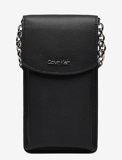 CK MUST PHONE POUCH XBODY - crossbody bags - ck black