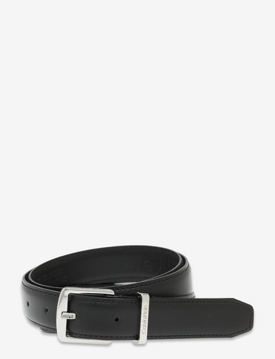 FOCUSED SQUARE BUCKLE BELT 25MM - ceintures - ck black