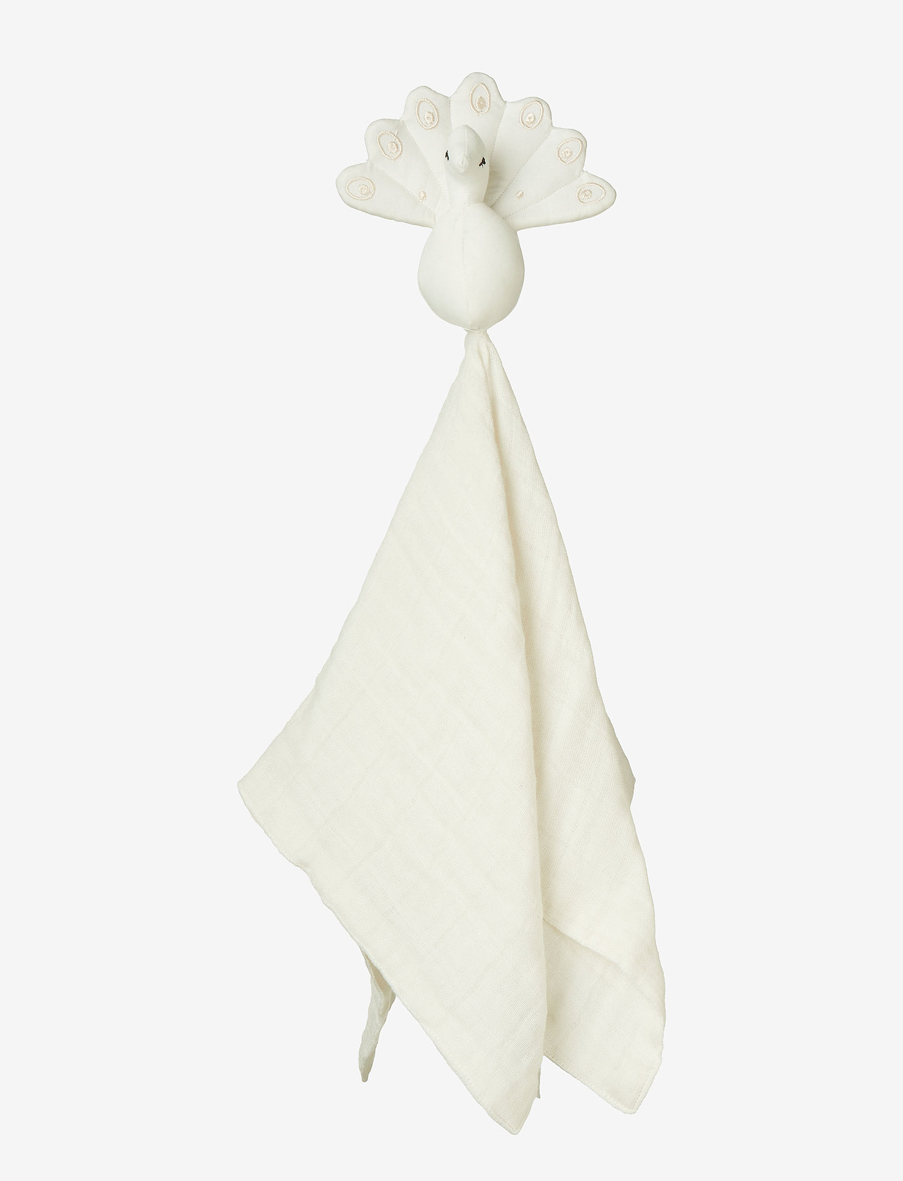 Cam Cam Copenhagen - Peacock Cuddle Cloth - baby toys - creme white - 0