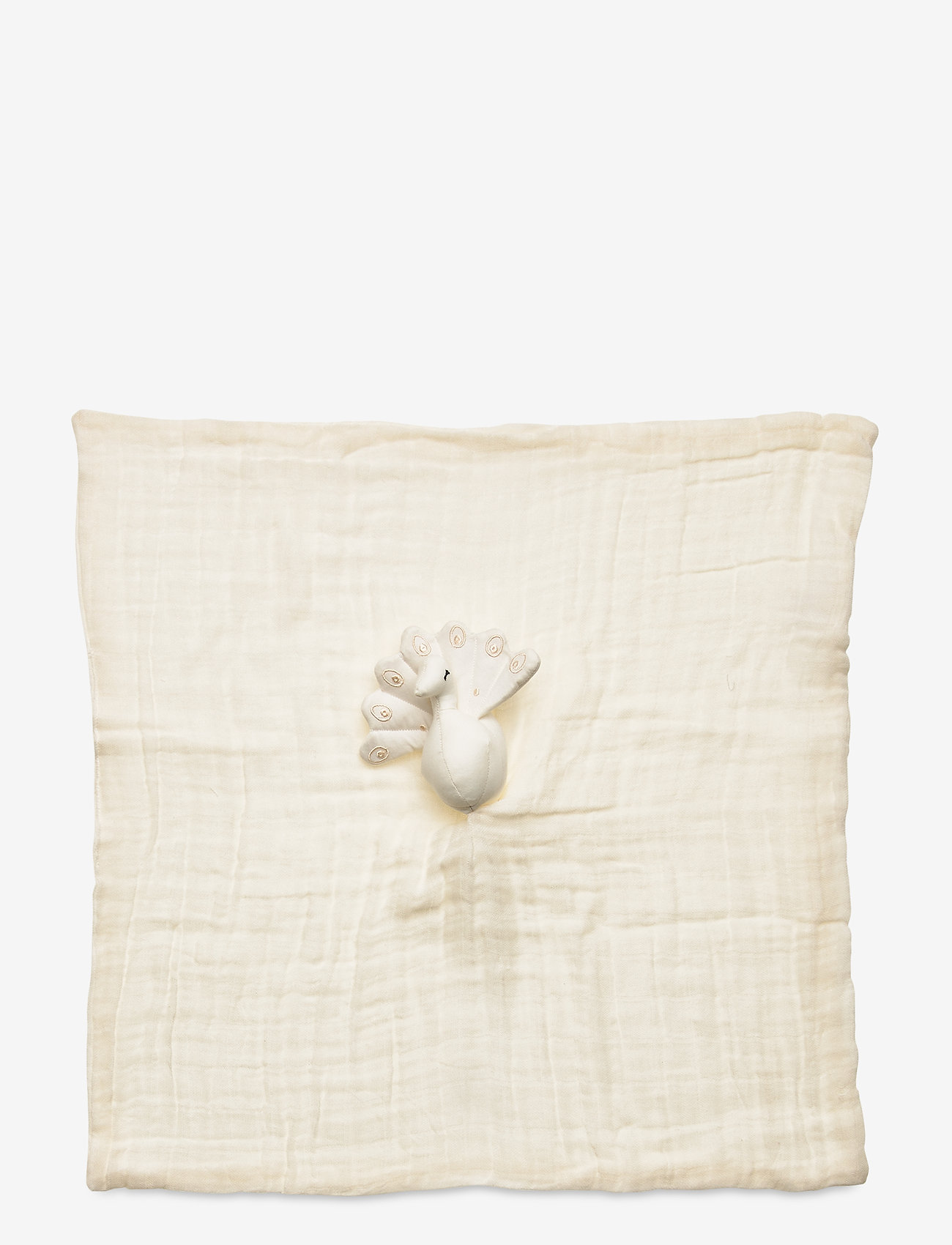 Cam Cam Copenhagen - Peacock Cuddle Cloth - baby toys - creme white - 1