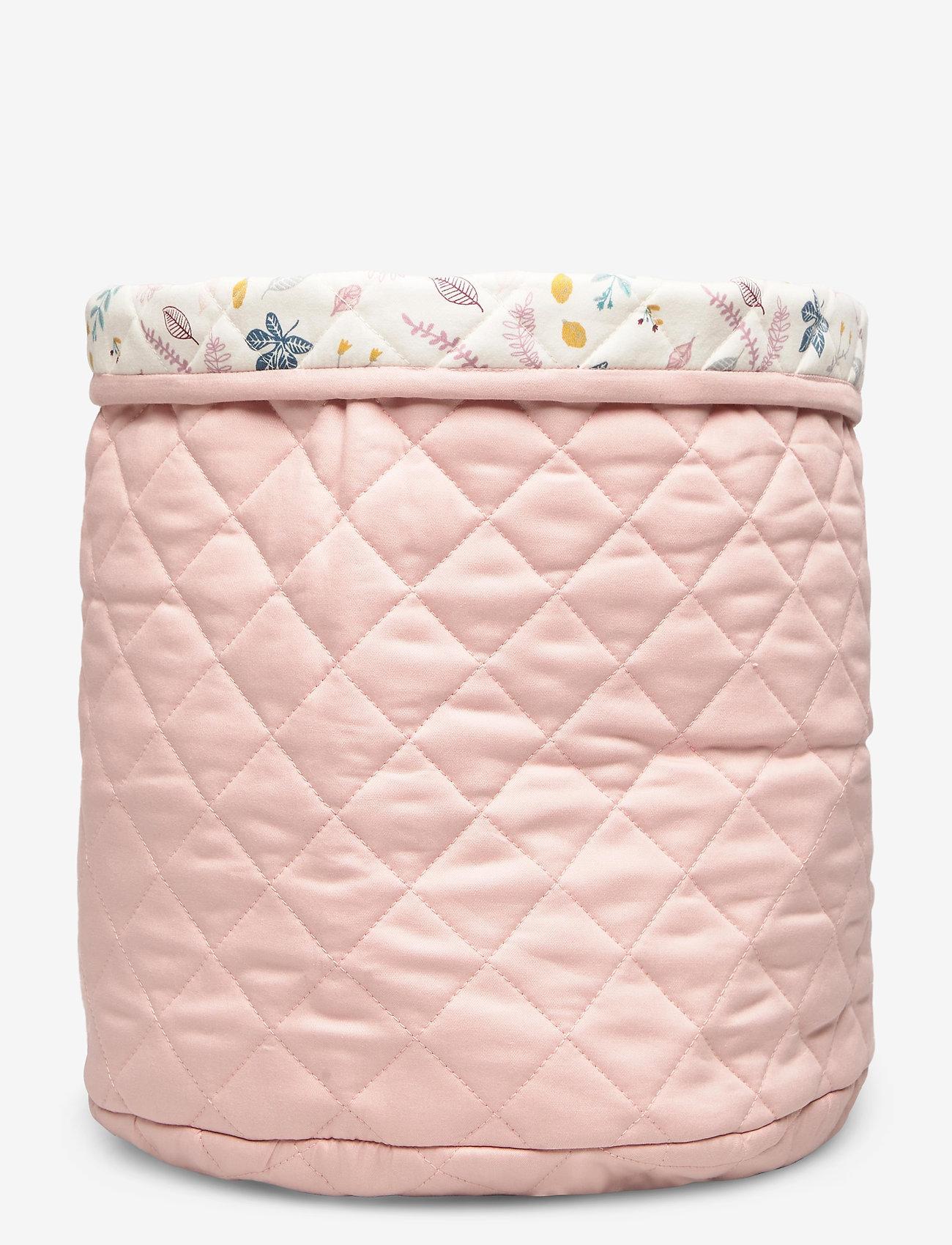 Cam Cam Copenhagen - Quilted Storage Basket, Medium - OCS Grey - przechowywanie - blossom pink - 1