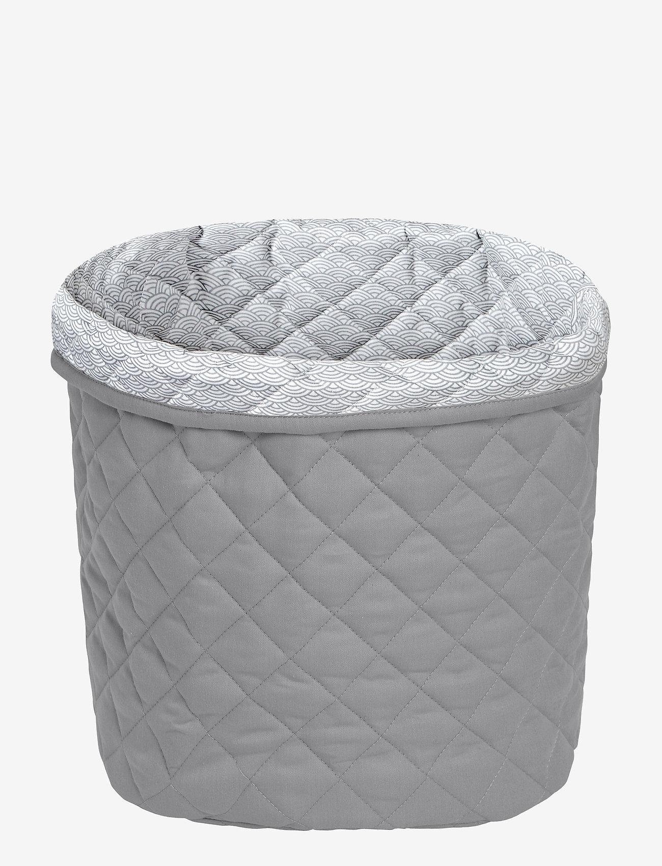 Cam Cam Copenhagen - Quilted Storage Basket, Medium - OCS Grey - przechowywanie - grey - 0