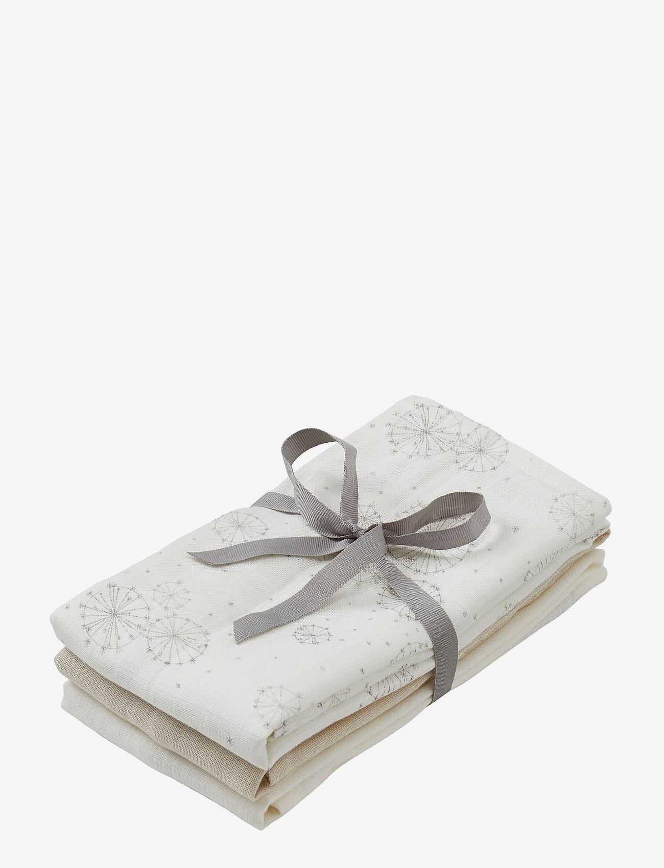 Cam Cam Copenhagen - Muslin Cloth Mix 3 Pack - pieluszki materiałowe - 1: dandelion natural 1:light sand 1: creme white - 0