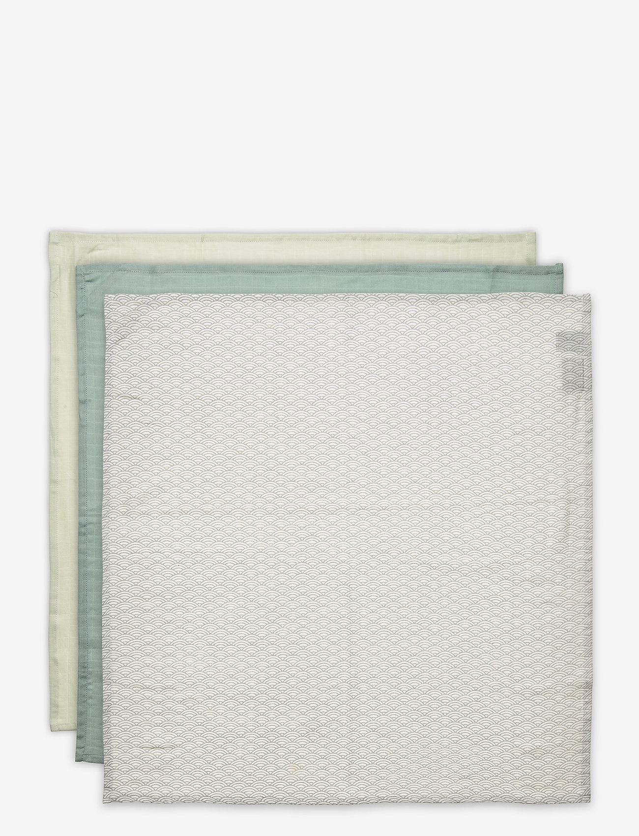 Cam Cam Copenhagen - Muslin Cloth Mix 3 Pack - pieluszki materiałowe - 1:  grey wave 1: petroleum 1: mint - 1