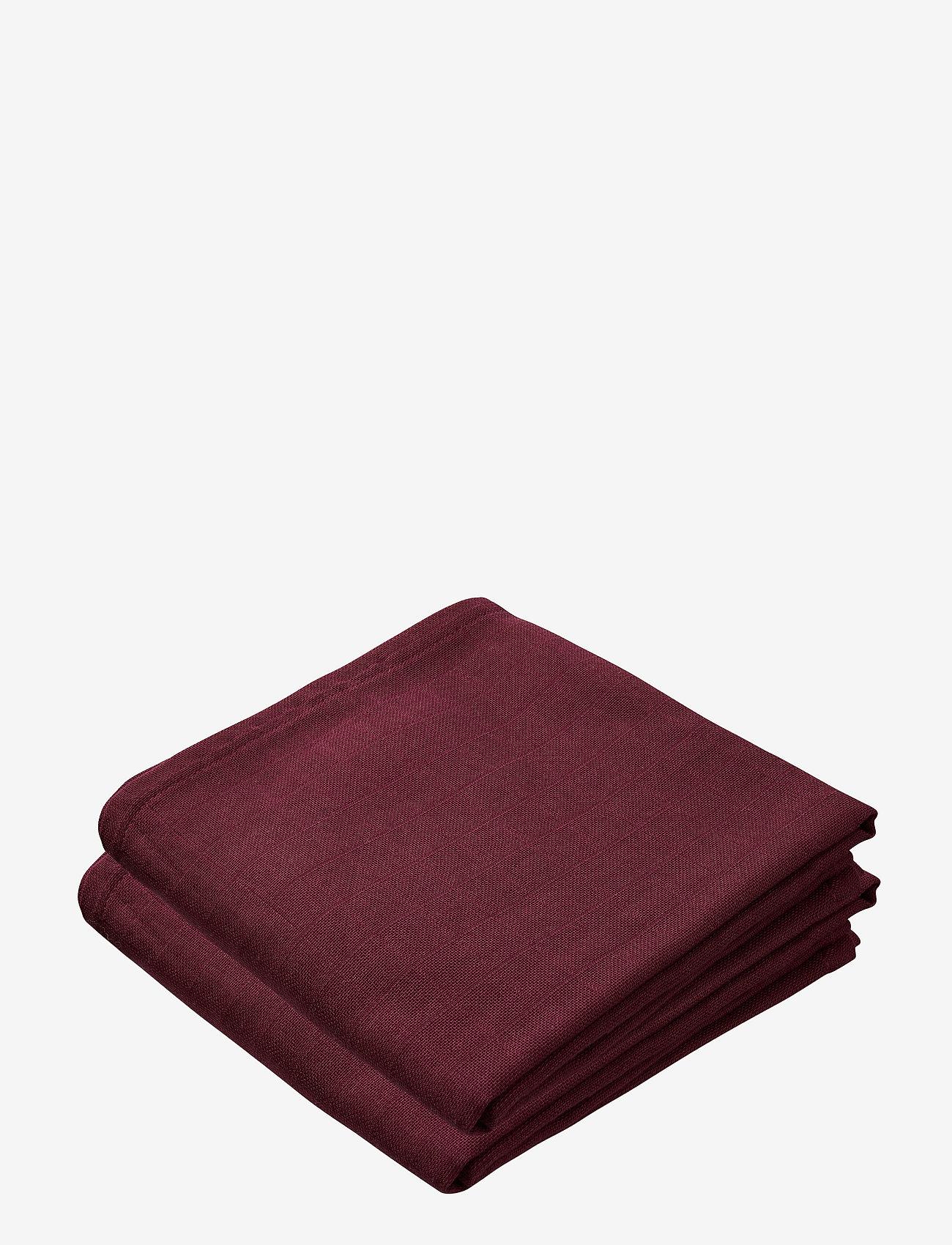 Cam Cam Copenhagen - Muslin Cloth 2 Pack - akcesoria - bordeaux - 0