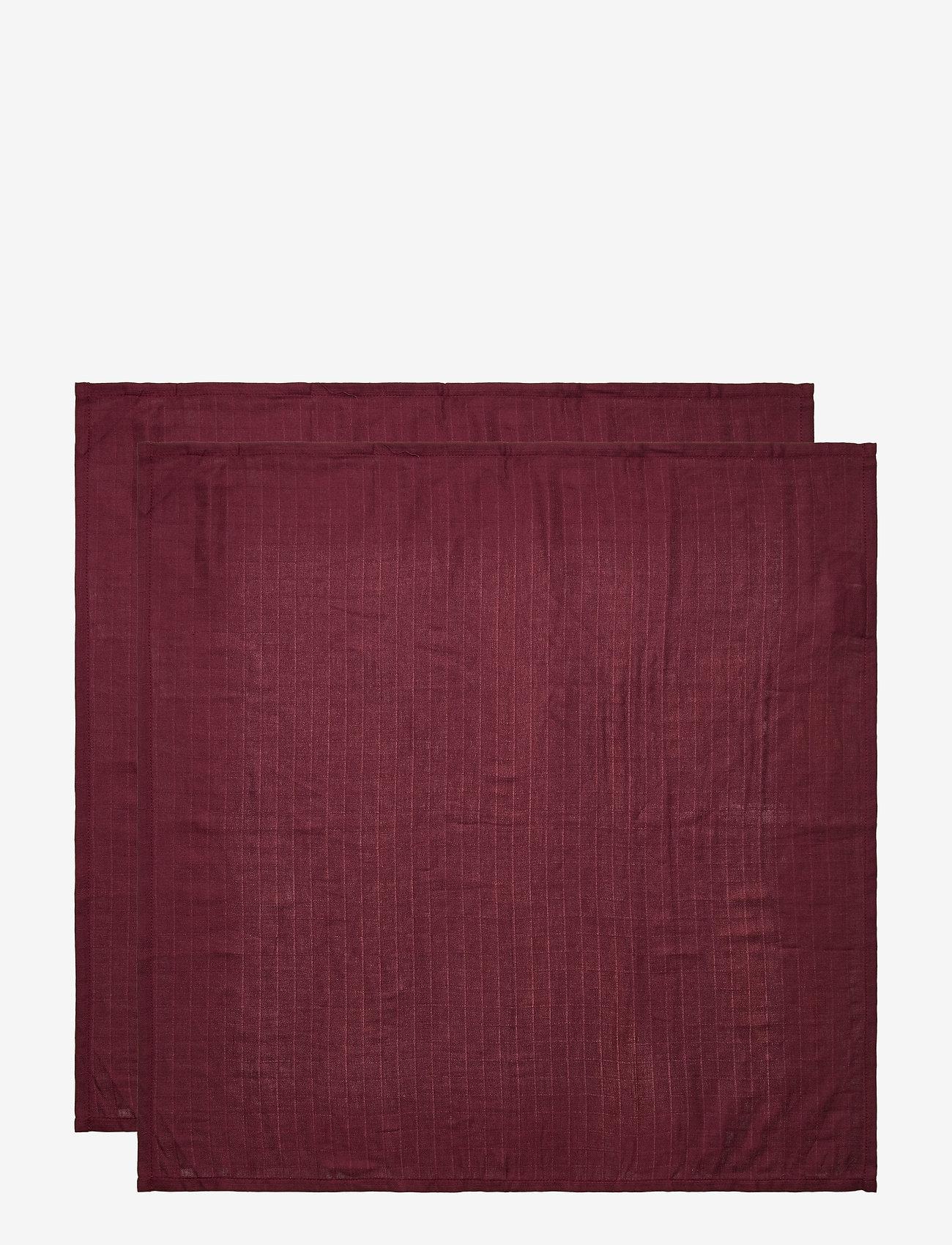 Cam Cam Copenhagen - Muslin Cloth 2 Pack - akcesoria - bordeaux - 1