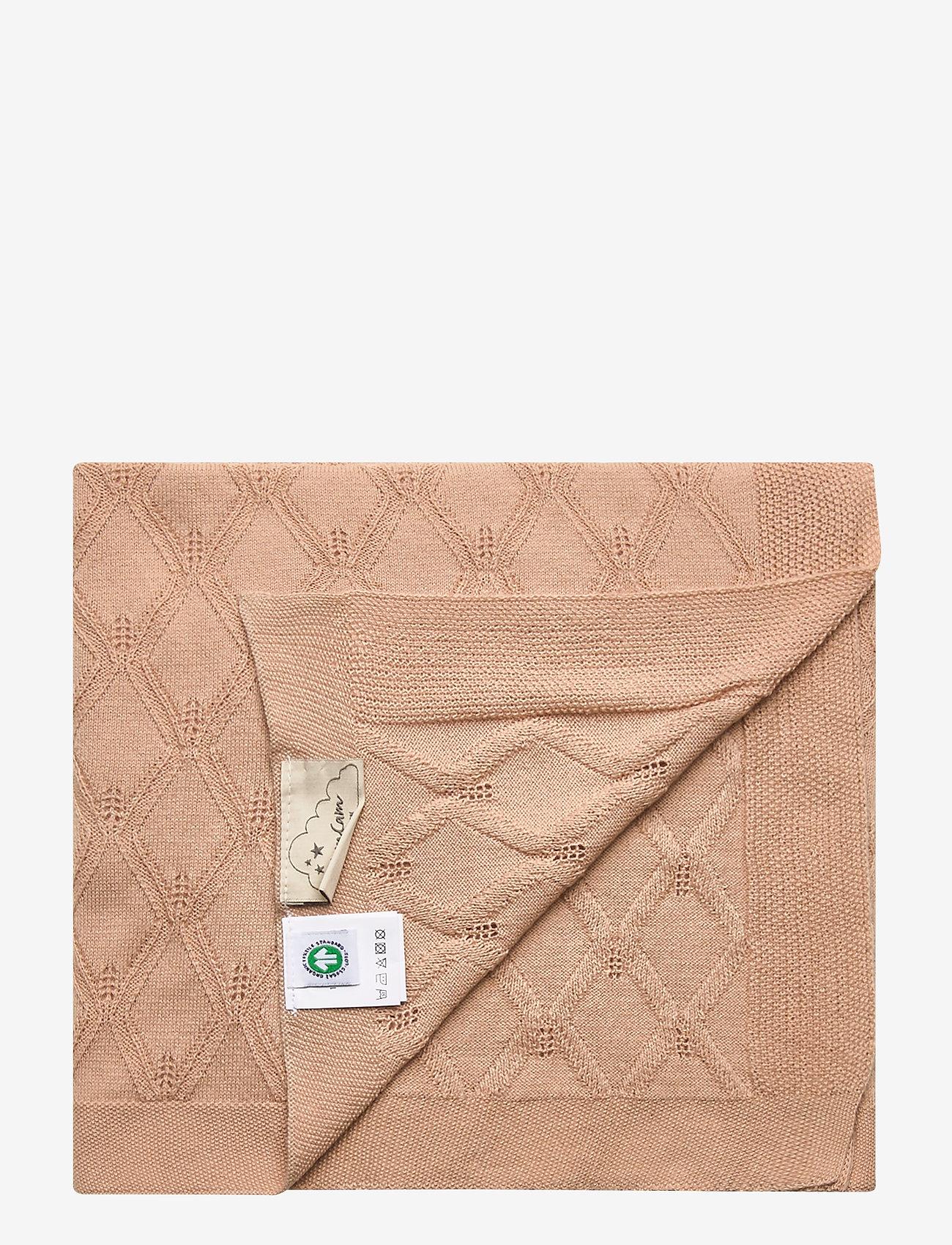 Cam Cam Copenhagen - Leaf Knit Blanket - koce i kołdry - mauve - 1