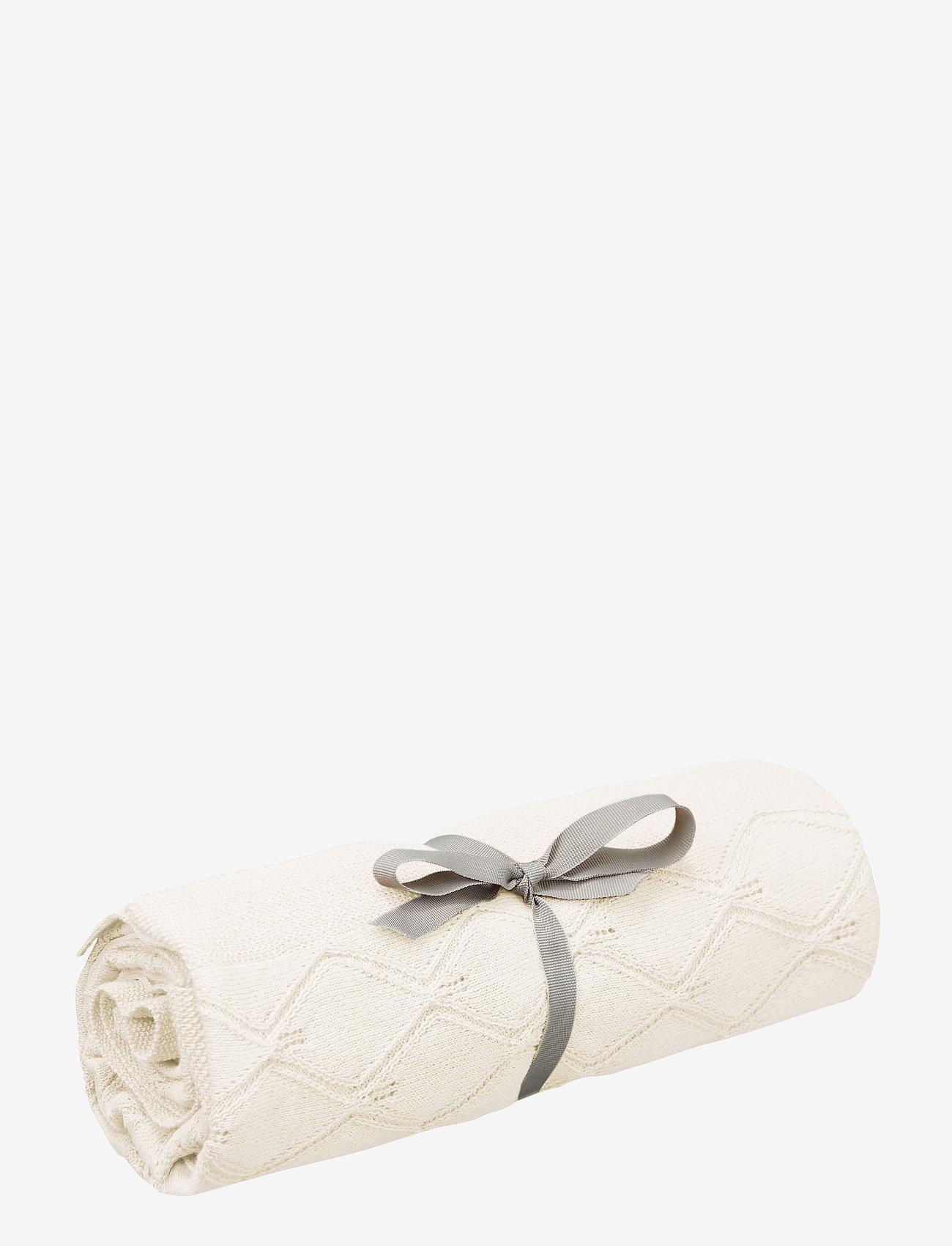 Cam Cam Copenhagen - Leaf Knit Blanket - blankets & quilts - natural - 0