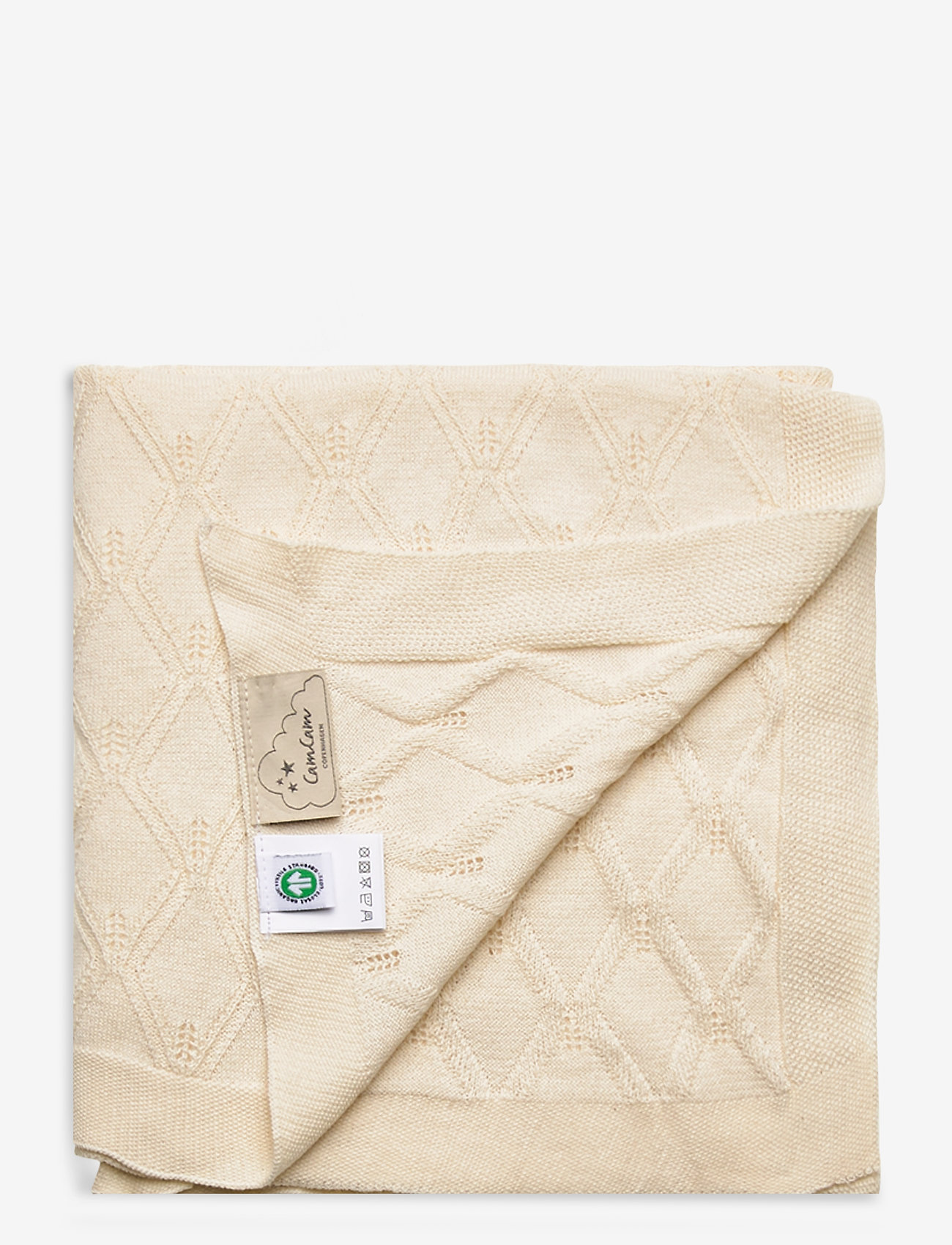 Cam Cam Copenhagen - Leaf Knit Blanket - blankets & quilts - natural - 1