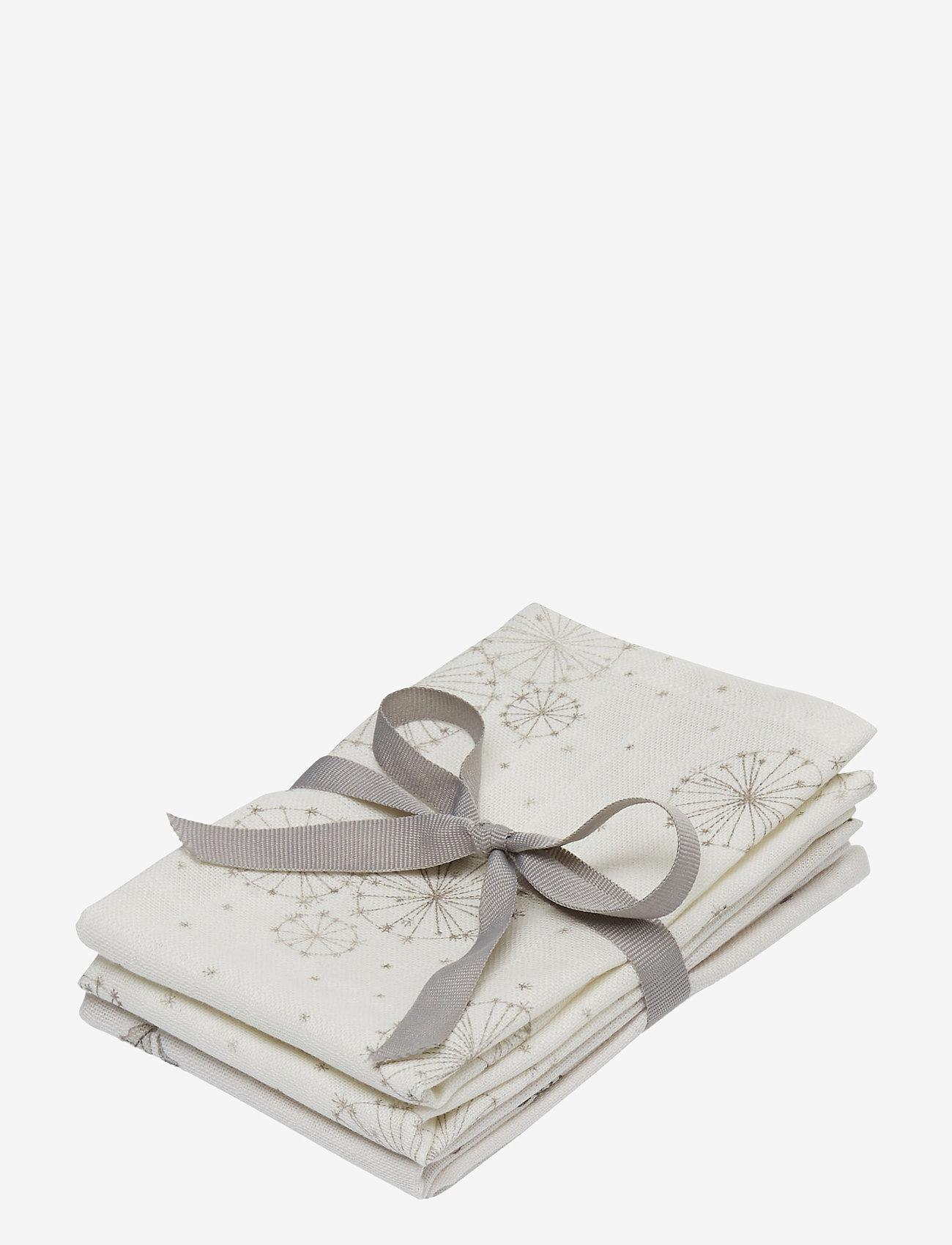 Cam Cam Copenhagen - Muslin Wash Cloth Mix 4 Pack - akcesoria - 2: dandelion natural 2: fawn - 0