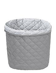 Quilted Storage Basket, Medium - OCS Grey - GREY