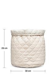 Cam Cam Copenhagen - Quilted Storage Basket, Medium - OCS Grey - przechowywanie - light sand - 4