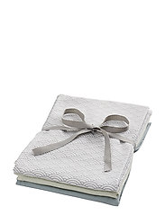 Muslin Cloth Mix 3 Pack - 1:  GREY WAVE 1: PETROLEUM 1: MINT