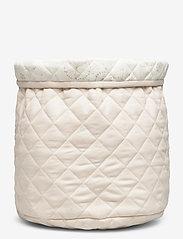 Cam Cam Copenhagen - Quilted Storage Basket, Medium - OCS Grey - przechowywanie - light sand - 1