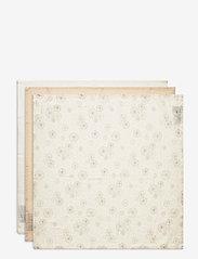 Cam Cam Copenhagen - Muslin Cloth Mix 3 Pack - pieluszki materiałowe - 1: dandelion natural 1:light sand 1: creme white - 1