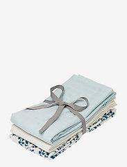 Cam Cam Copenhagen - Muslin Cloth Mix 3 Pack - pieluszki materiałowe - 1:  fiori 1: light blue 1: cream white - 0