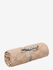 Cam Cam Copenhagen - Leaf Knit Blanket - koce i kołdry - mauve - 0