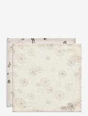 Cam Cam Copenhagen - Muslin Wash Cloth Mix 4 Pack - akcesoria - 2: dandelion natural 2: fawn - 1