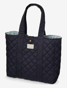 Quilted Tote Bag - małe torby - navy