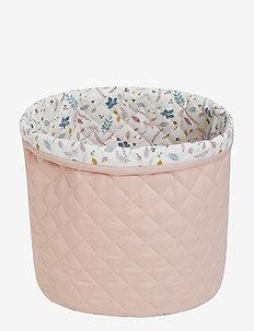 Medium Quilted Storage Basket - decor - blossom pink