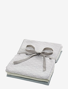 Muslin Cloth Mix 3 Pack - akcesoria - 1:  grey wave 1: petroleum 1: mint