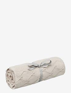 Leaf Knit Blanket - blankets - sand