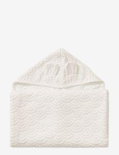 Towel, Junior, Hooded w/ ears, 70x130cm - GOTS Petroleum - bademode - off-white