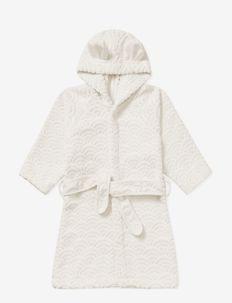 Bathrobe, Hooded w/ ears, 1-2 yrs - GOTS Petroleum - ondergoed & nachtkleding - off-white