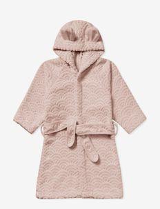 Bathrobe, Hooded w/ ears, 3-4 yrs - GOTS Petroleum - ondergoed & nachtkleding - dusty rose