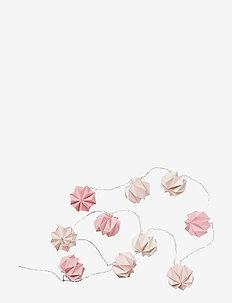 String Lights, Origami LED - Mix Rose - lampki - mix rose