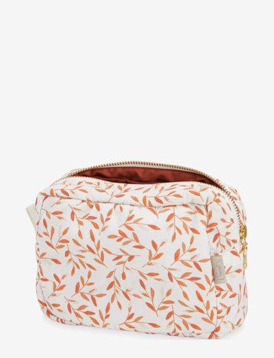 Make Up Purse - OCS Windflower Creme - cosmetic bags - caramel leaves