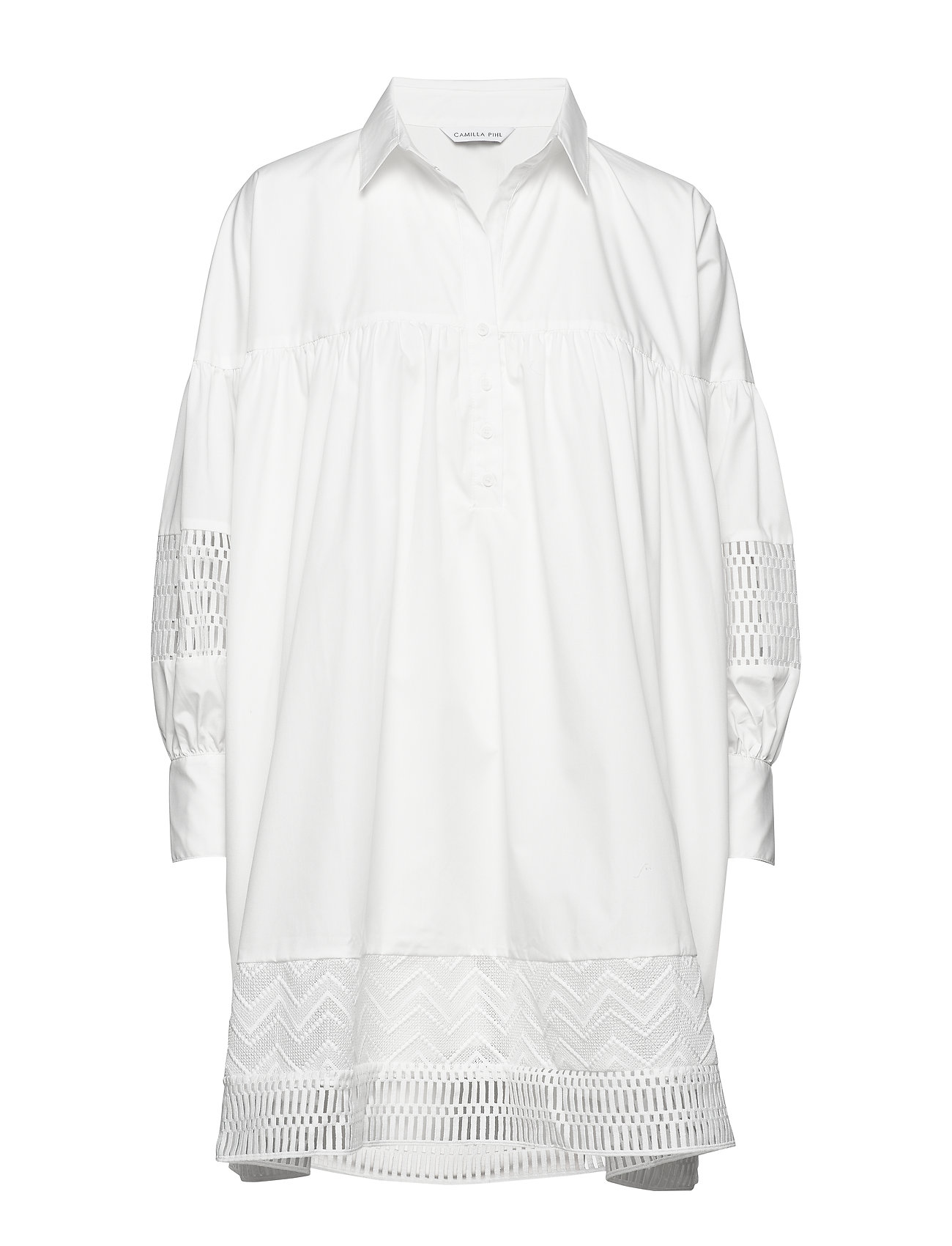 Camilla Pihl Mesima shirtdress - WHITE