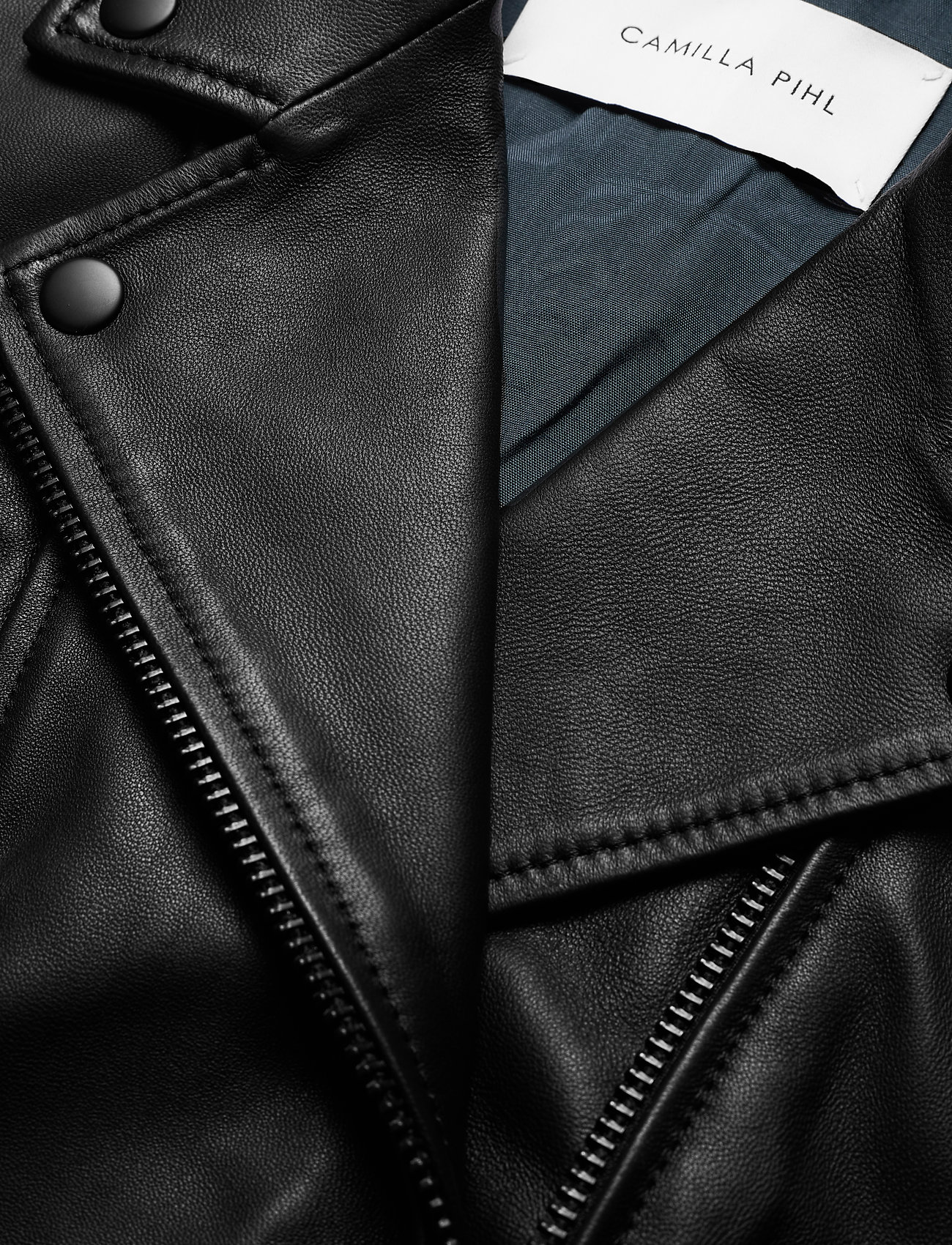City Leather Jacket (Black) (3719.40 kr) - Camilla Pihl