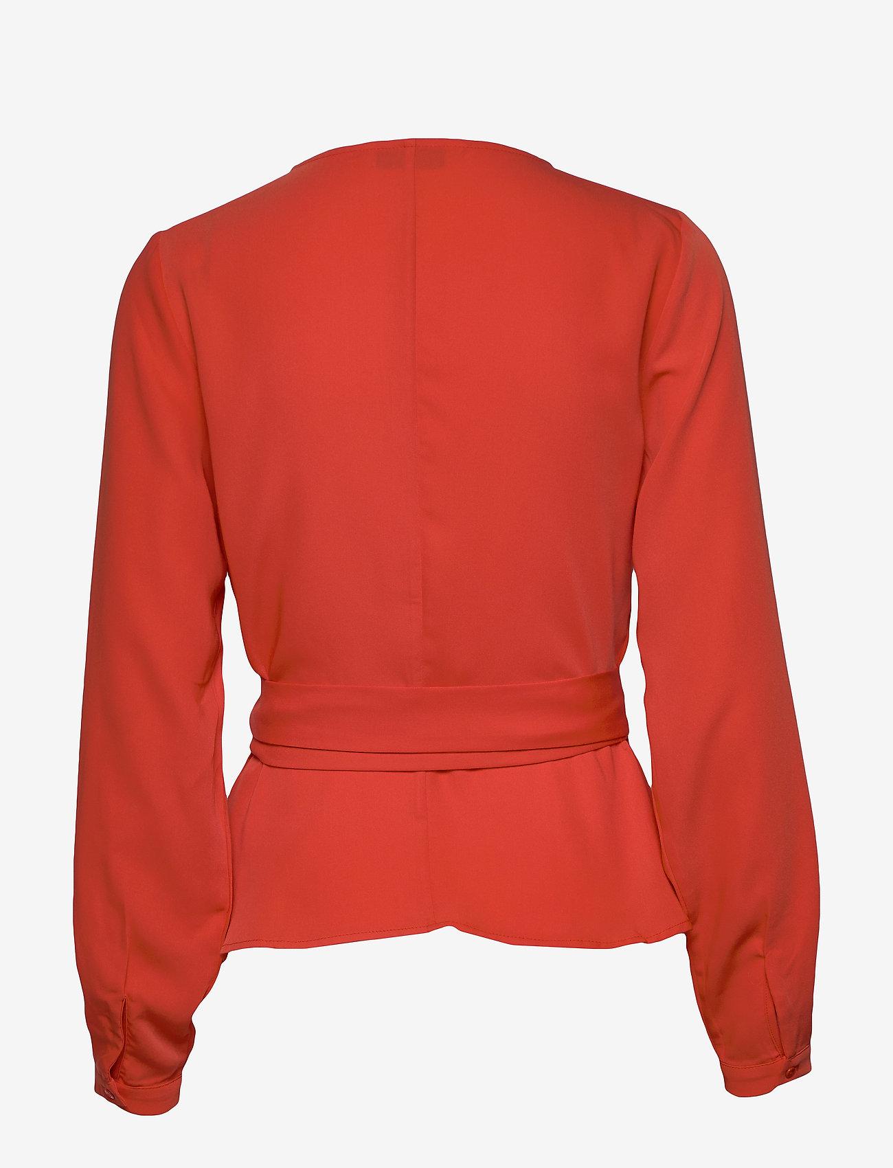 Camilla Pihl Luck wrap top - Bluzki & Koszule BRIGHT RED - Kobiety Odzież.