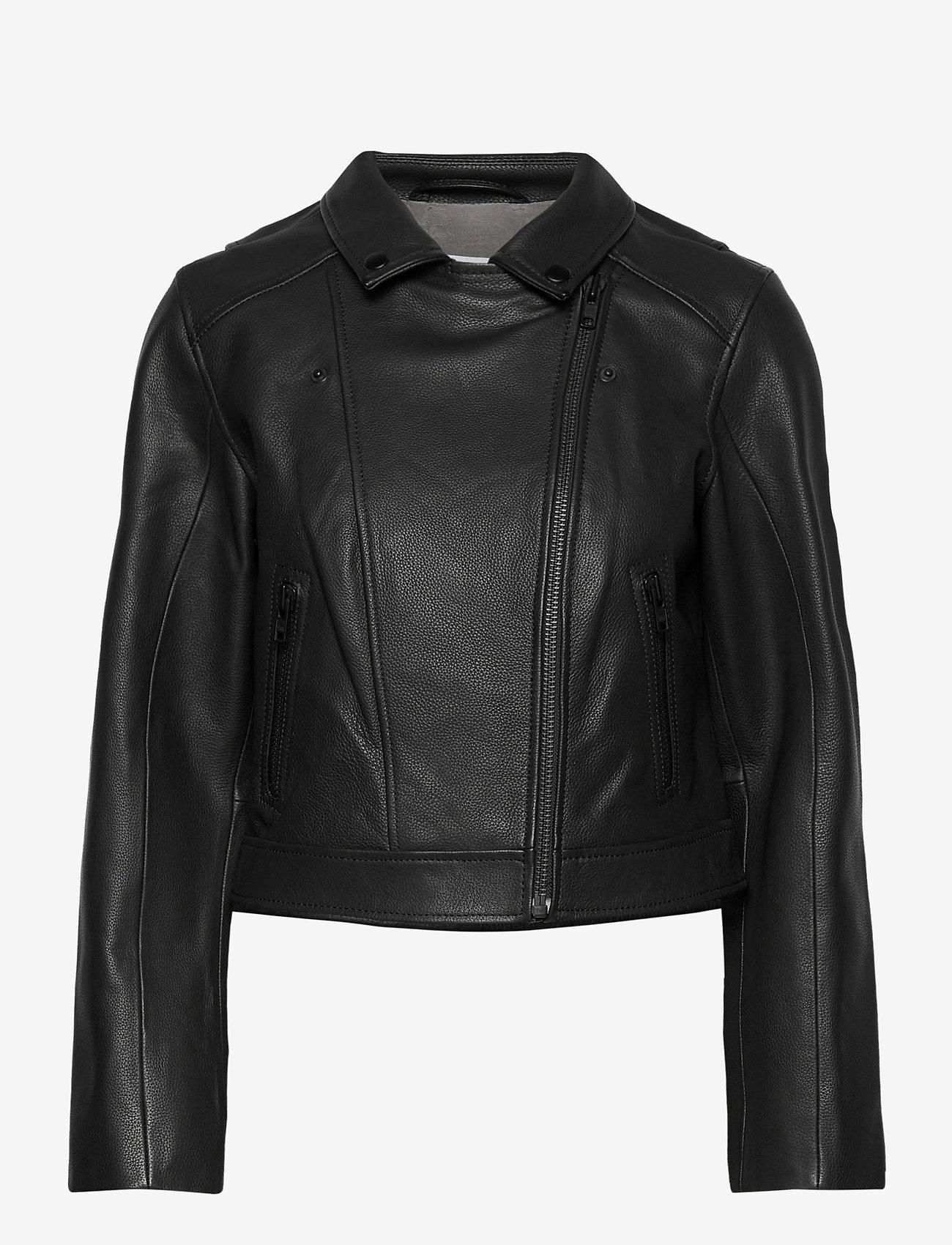 Camilla Pihl - Soho Leather Jacket - skinnjackor - black - 1