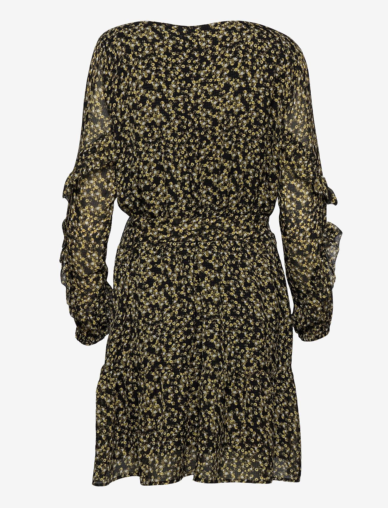 Camilla Pihl - Angelina Dress - midi dresses - black flower - 1