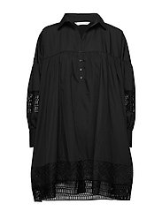 Mesima shirtdress - BLACK
