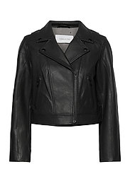 Soho Leather Jacket - BLACK